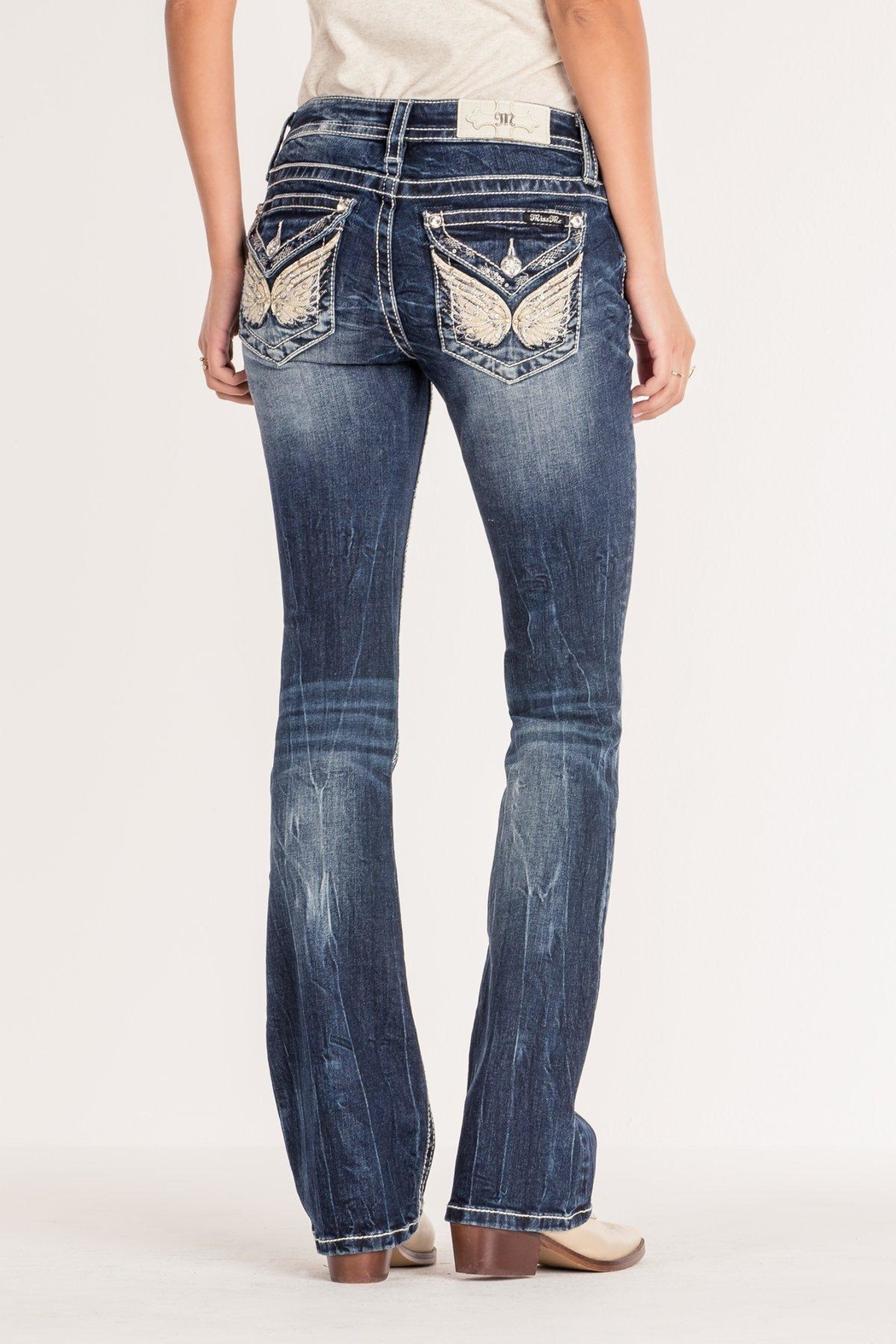 Miss Me Angel Wing Bootcut - Main Image