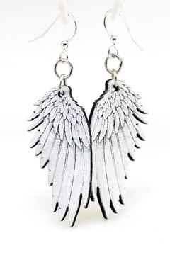 Green Tree Jewelry Angel Wing Earrings - Alternate List Image
