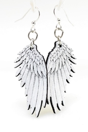 Green Tree Jewelry Angel Wing Earrings - Product Mini Image