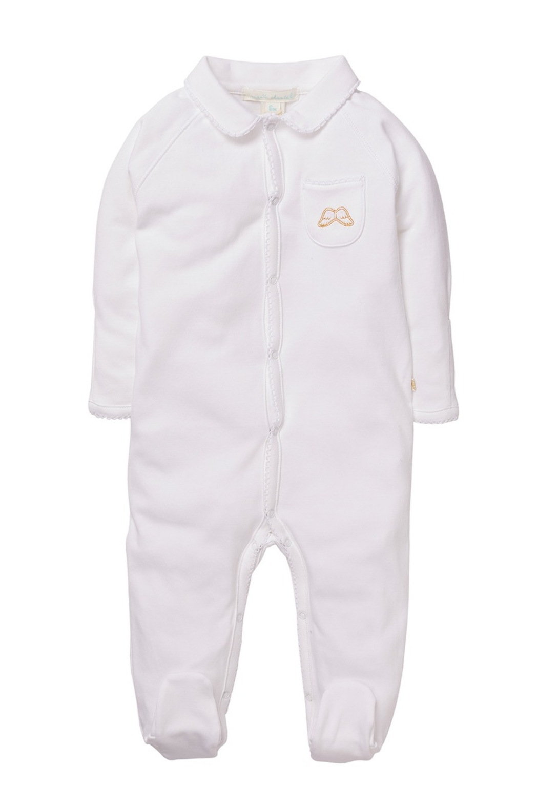 Marie Chantal Angel Wing Onesie With Mittens - Main Image
