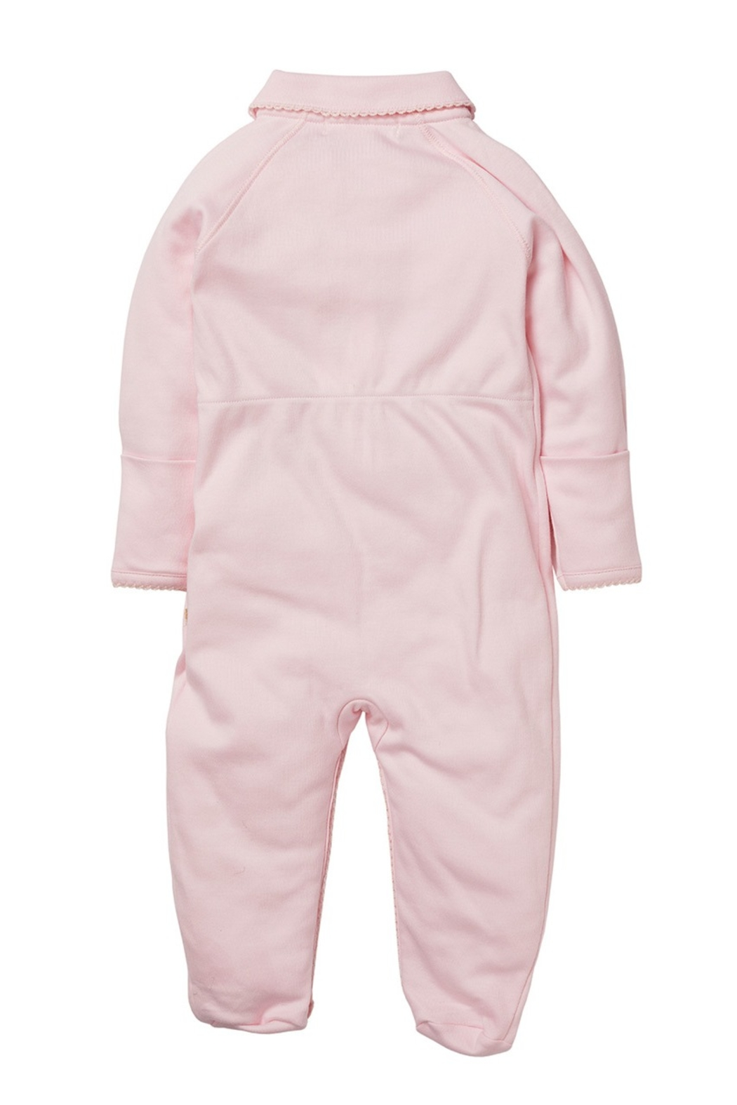 Marie Chantal Angel Wing Onesie With Mittens - Front Full Image