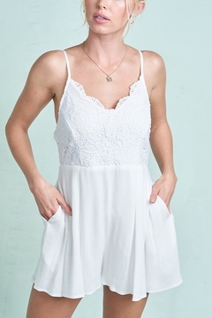 LA MIEL  Angel Wings Romper - Product List Image