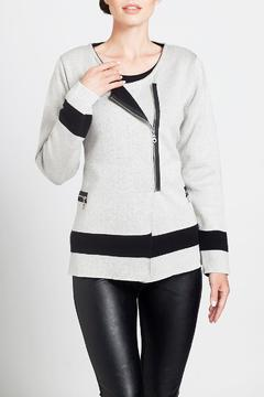 Angel Apparel Contrast Zip Cardigan - Product List Image