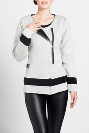 Angel Apparel Contrast Zip Cardigan - Product Mini Image