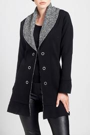 Angel Apparel Knit Collar Jacket - Front cropped