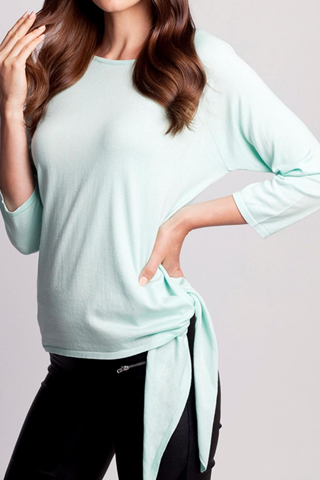 Angel Apparel Side-Tie Sweater - Front Cropped Image