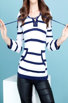 Shoptiques Product: Stripped Tie-Front Shirt