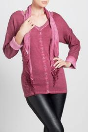 Angel Apparel Top With Scarf - Front cropped