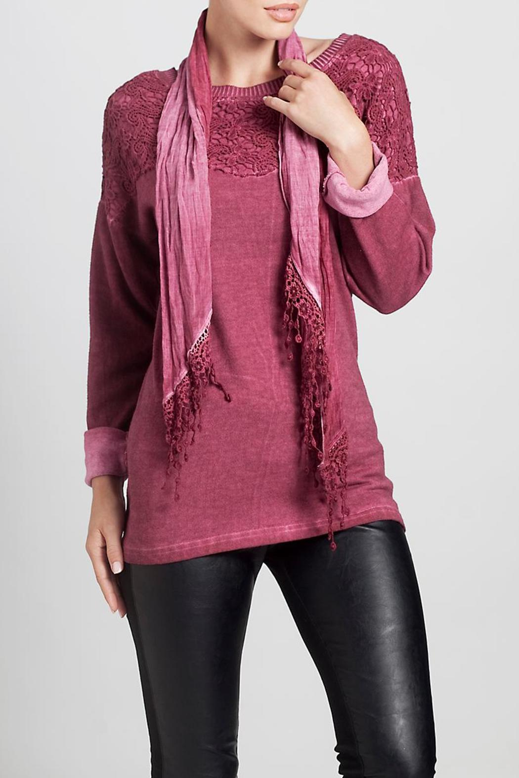 Angel Apparel Top With Scarf - Front Full Image