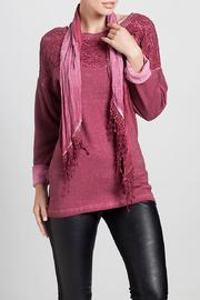 Angel Apparel Top With Scarf - Front full body