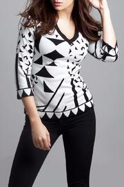 Angel Designs Reversible Geometric Sweater - Product Mini Image