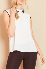 Angel Eyes Fire Lace Trim Top - Product Mini Image