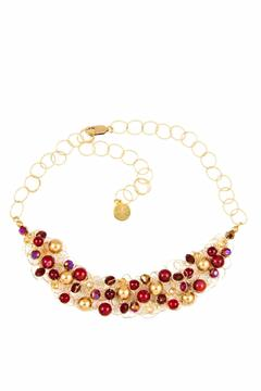 Shoptiques Product: Red Gold Woven Necklace