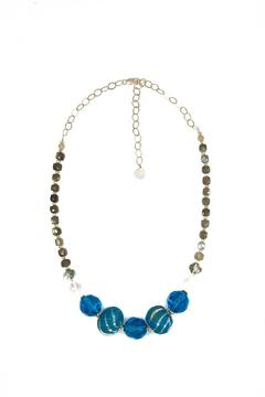 Shoptiques Product: Sari-Wrapped Gemstone Necklace