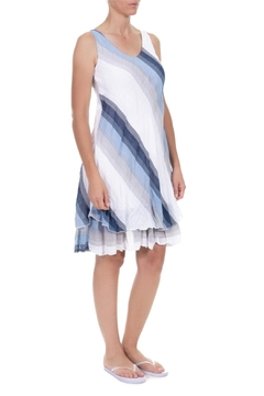 Angela Mara Diagonal Stripe Dress - Alternate List Image