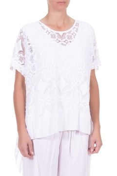 Angela Mara White Lace Blouse - Alternate List Image