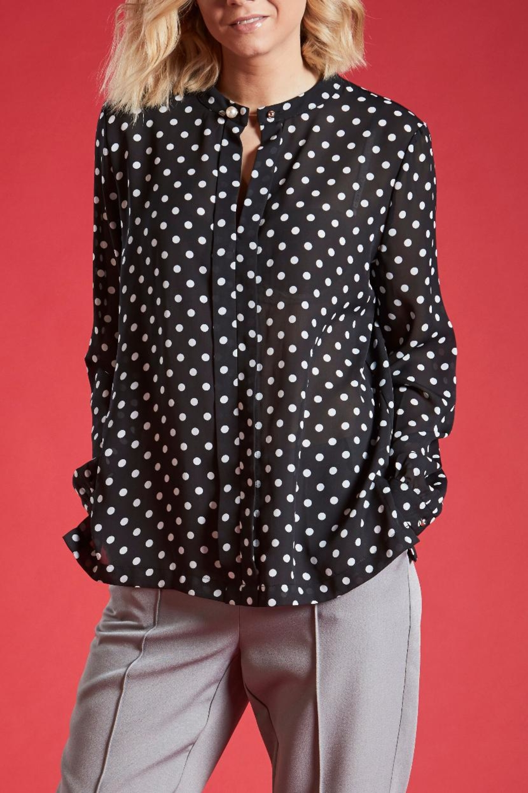 Angeleye London Long Sleeved Blouse - Front Cropped Image