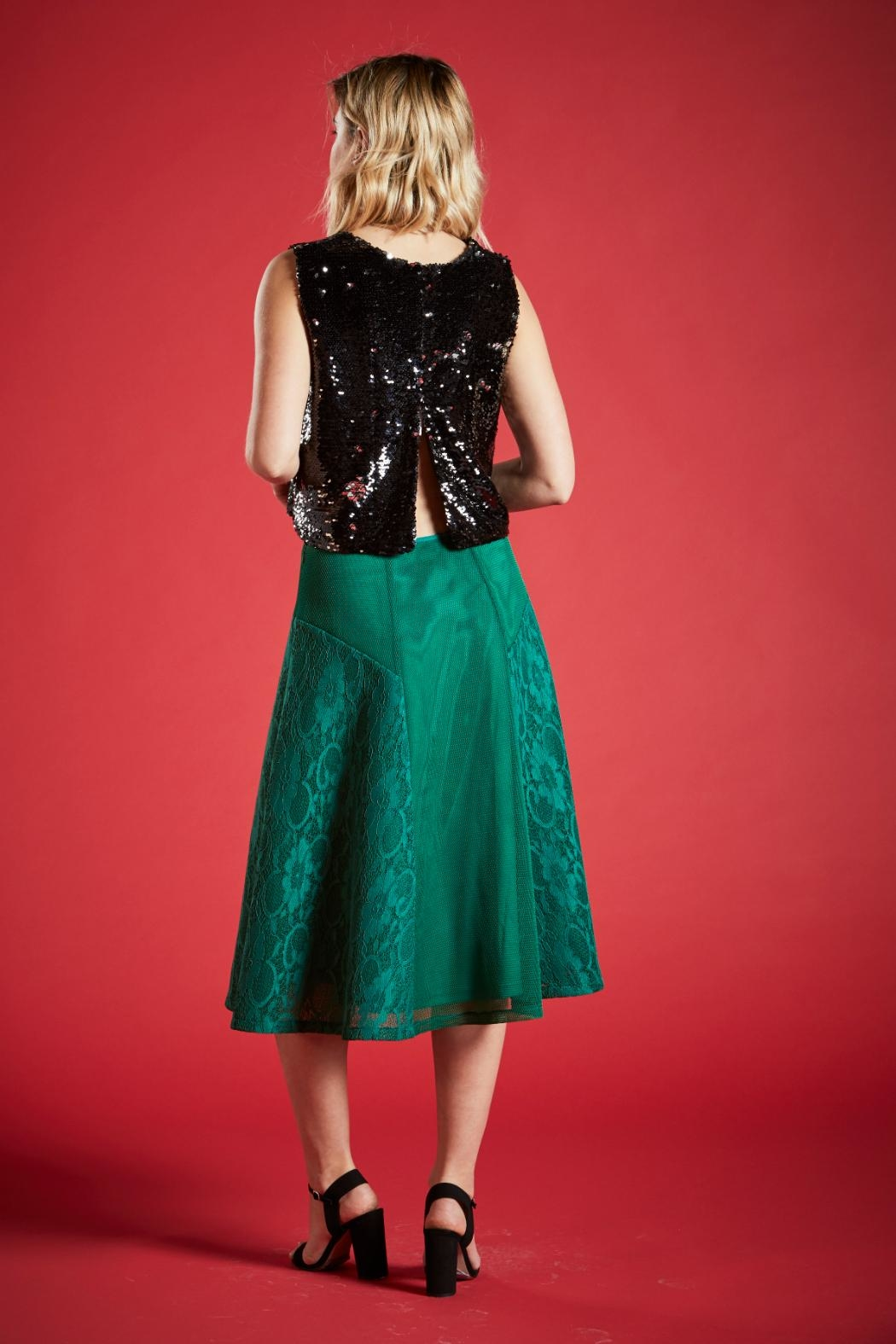 Angeleye London Opal Sequined Top - Side Cropped Image