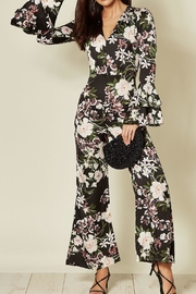 Angeleye London Satin Floral Jumpsuit - Product Mini Image