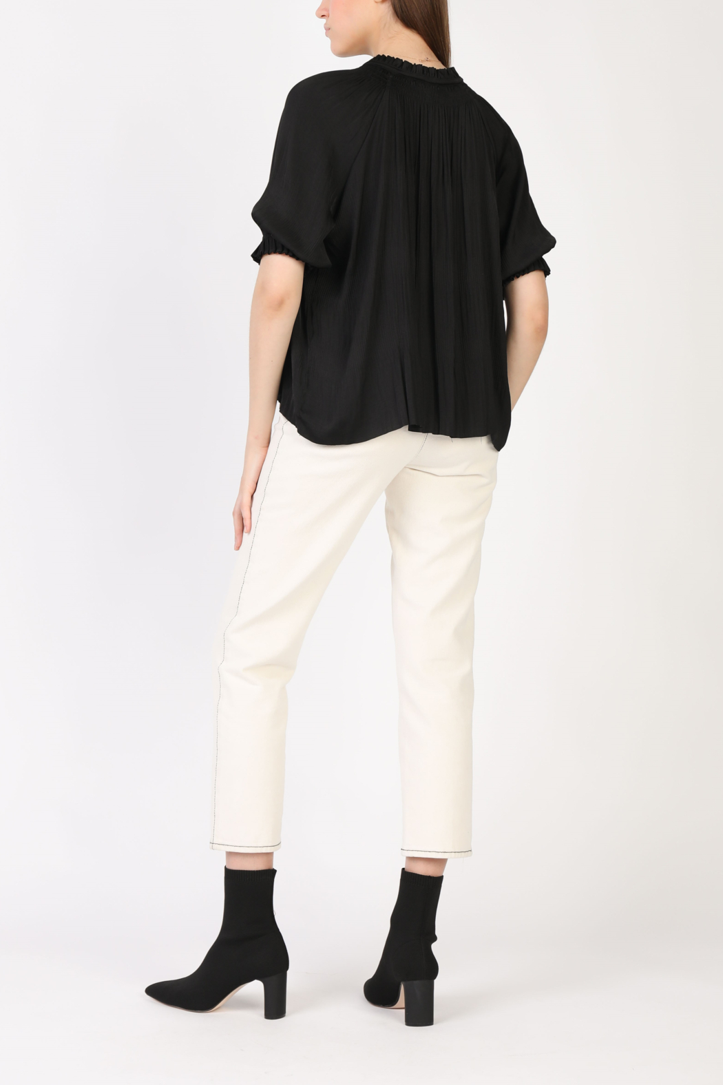 Current Air Angelic Pleated Blouse - Front Full Image