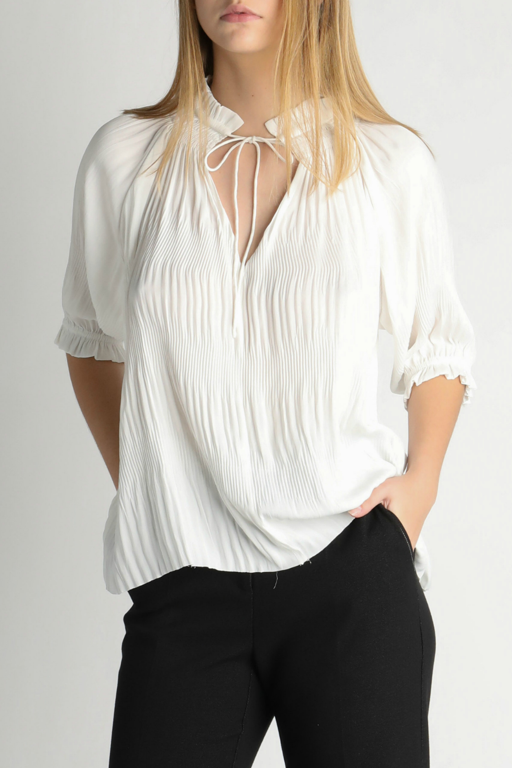 Current Air Angelic Pleated Blouse - Main Image