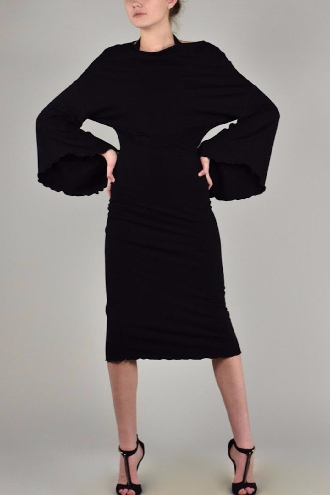 Angelrox Medici Bell-Sleeve Dress - Front Cropped Image