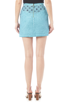 Shoptiques Product: Mixed Teal Skirt