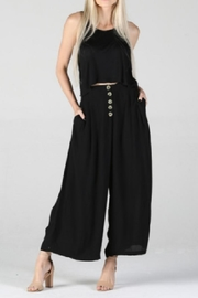 Angie Black Cropped Button-Pant - Product Mini Image