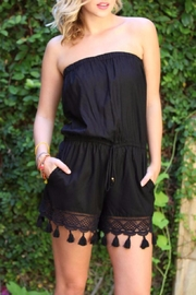 Angie Black Tassel Romper - Product Mini Image