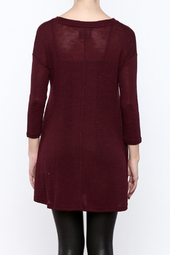 Angie Burgundy Tunic - Alternate List Image