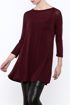 Angie Burgundy Tunic - Product List Image