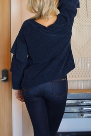 Angie Chenille Tiered Sleeve Sweater - Front full body