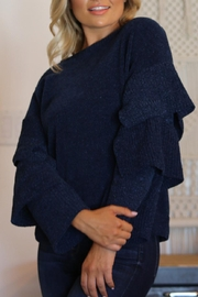 Angie Chenille Tiered Sleeve Sweater - Product Mini Image