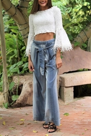 Angie Cotton Wide/leg Pant - Front cropped