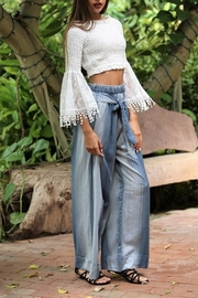 Angie Cotton Wide/leg Pant - Front full body