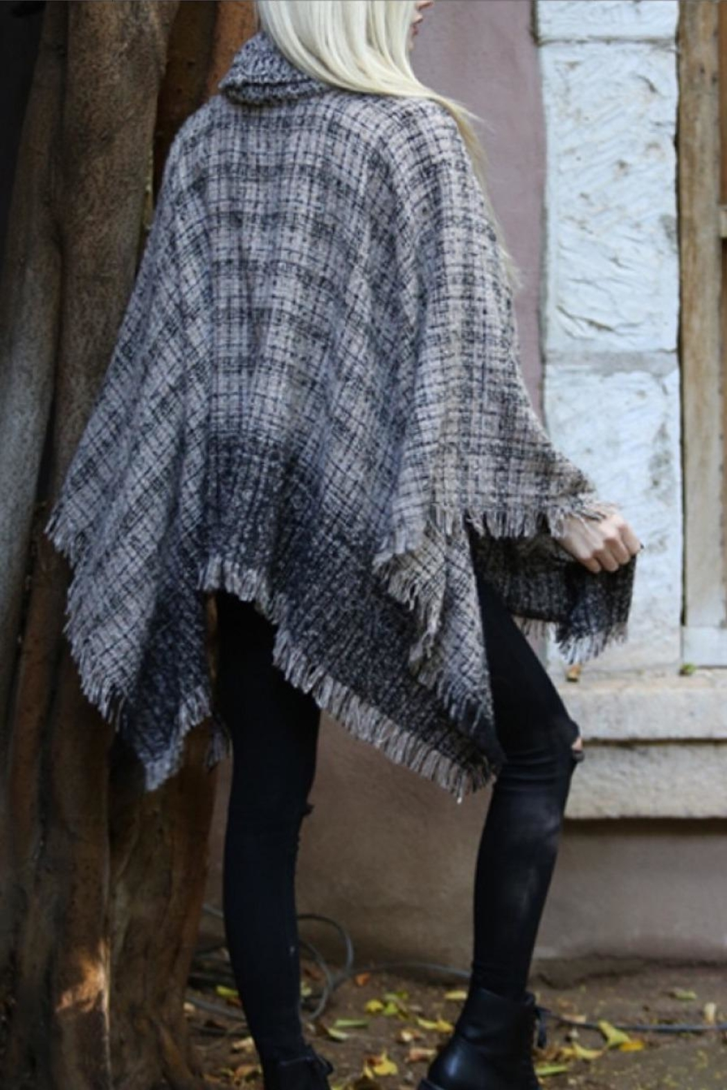 Angie Cowl Neck Poncho - Front Full Image