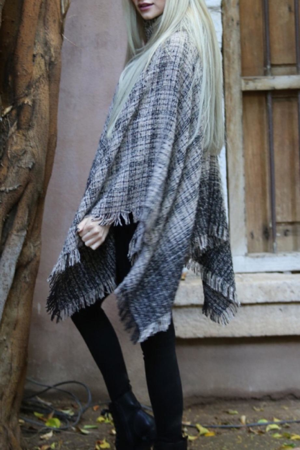 Angie Cowl Neck Poncho - Side Cropped Image