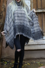 Angie Cowl Neck Poncho - Back cropped