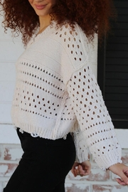 Angie Distressed Chenille Sweater - Front cropped