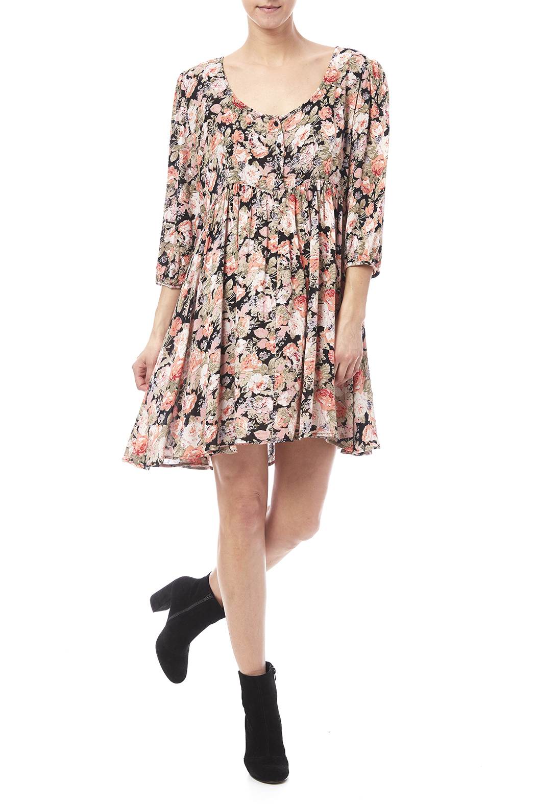 Angie Floral Babydoll Dress From Pennsylvania By Mad