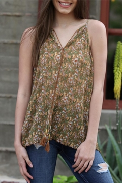 Angie Floral Pleated Tank - Product List Image