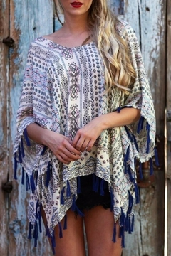 Angie Fringed Poncho - Alternate List Image