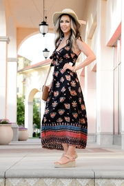 Angie Front Tie Maxi-Dress - Product Mini Image