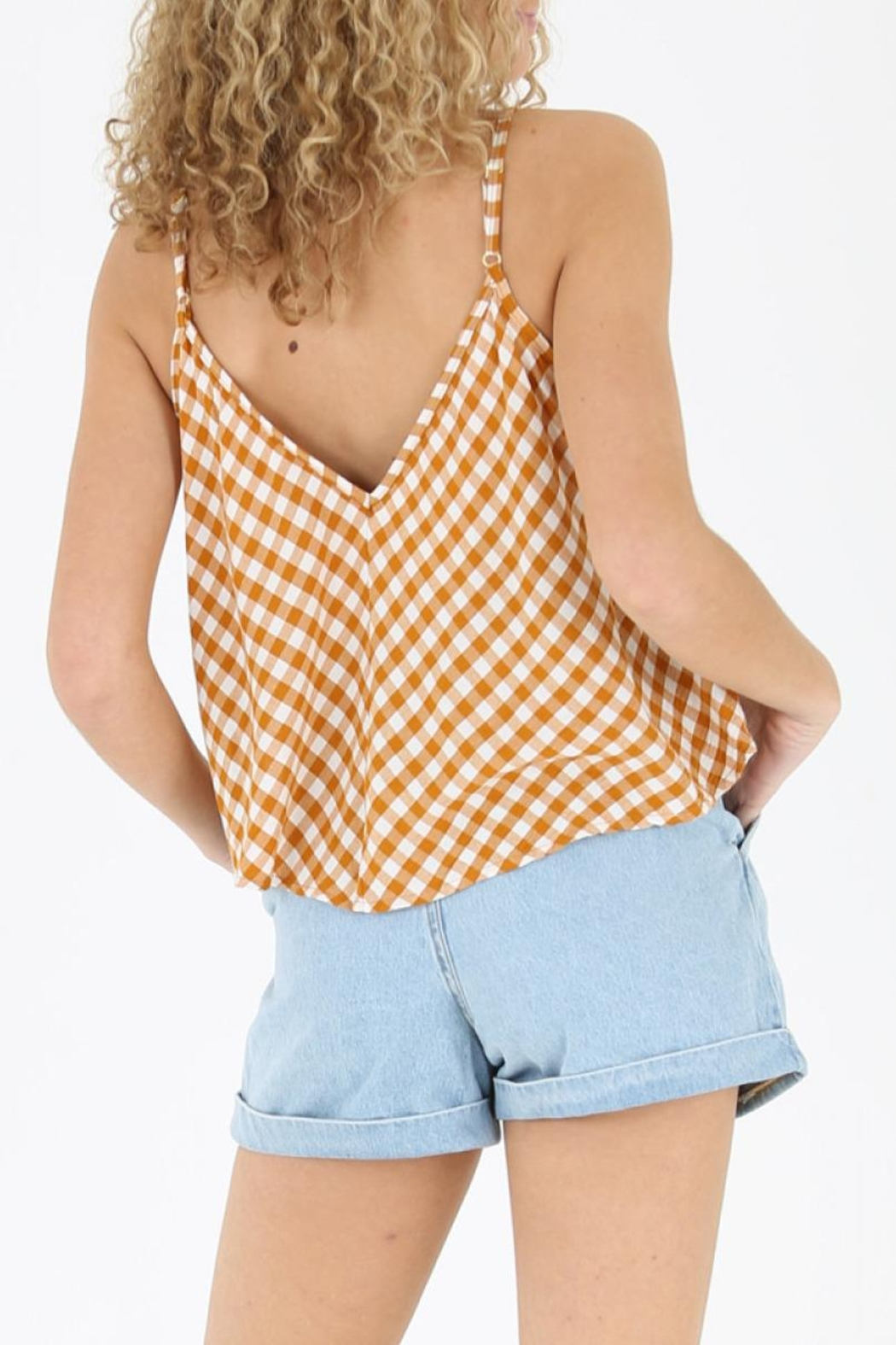 Angie Gingham Swing Tank - Front Full Image