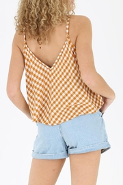 Angie Gingham Swing Tank - Front full body