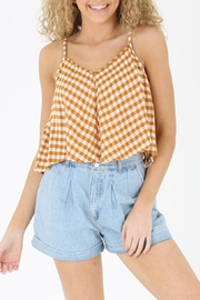 Angie Gingham Swing Tank - Front cropped