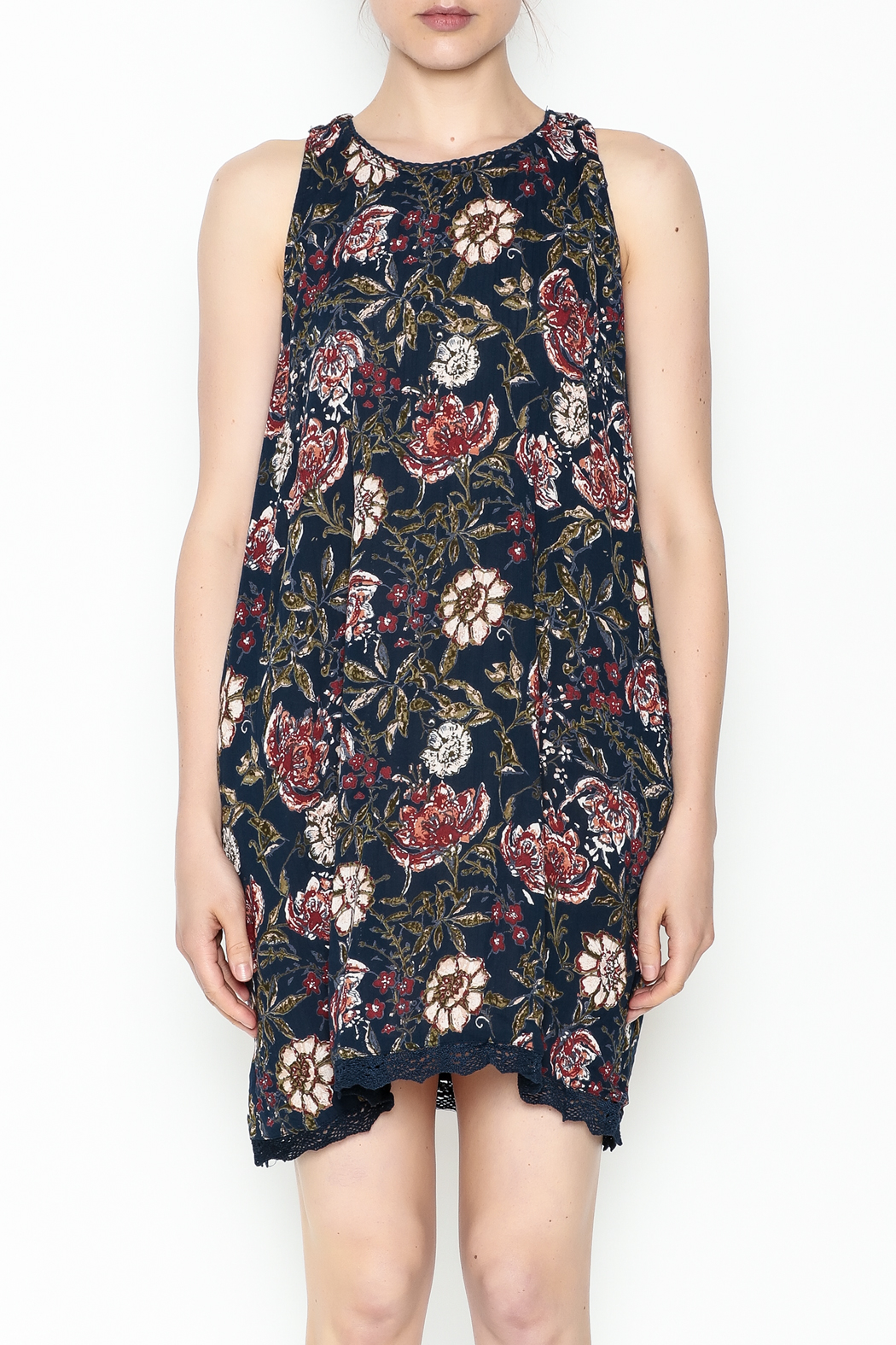 Angie Halter Floral Dress - Front Full Image