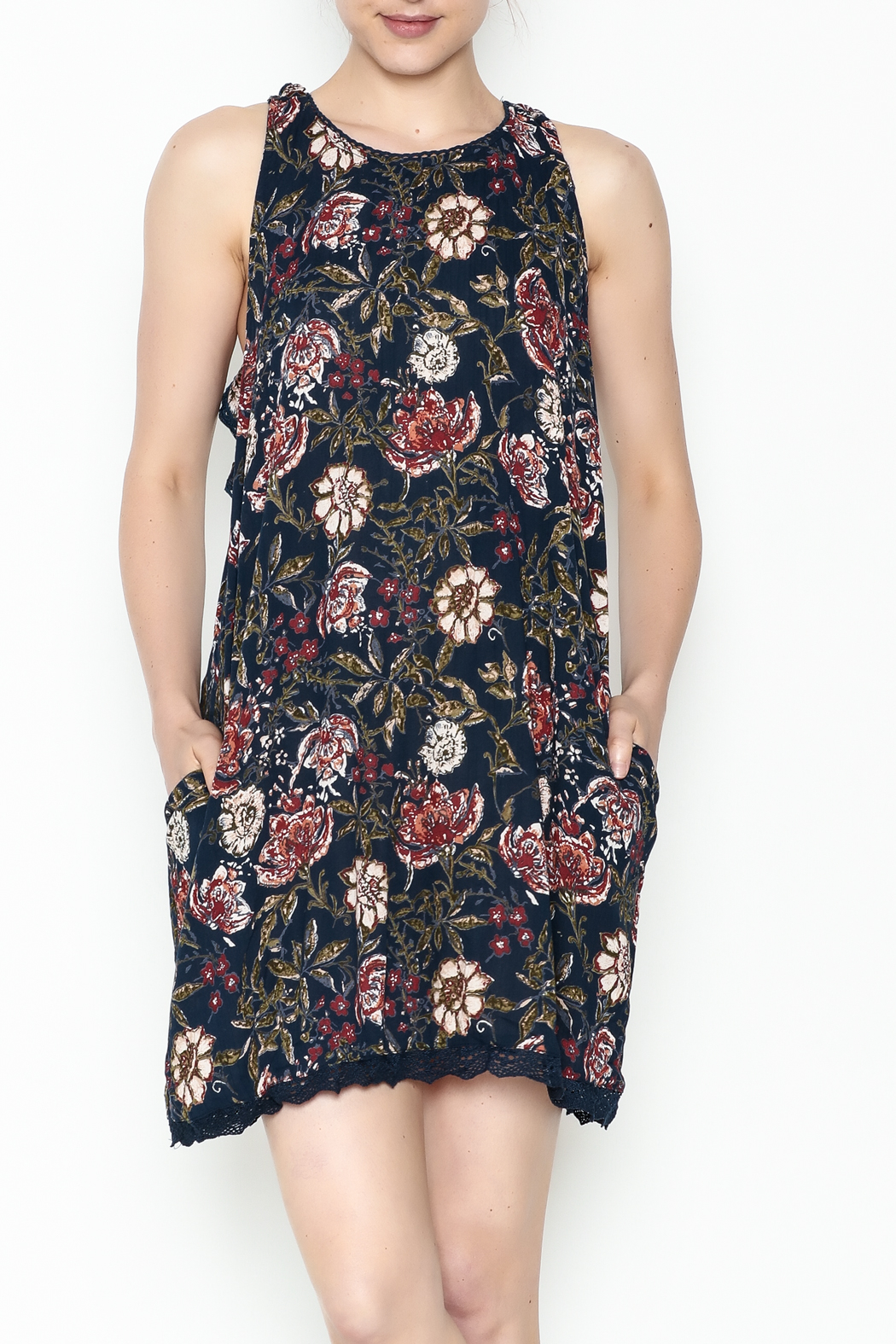 Angie Halter Floral Dress - Main Image