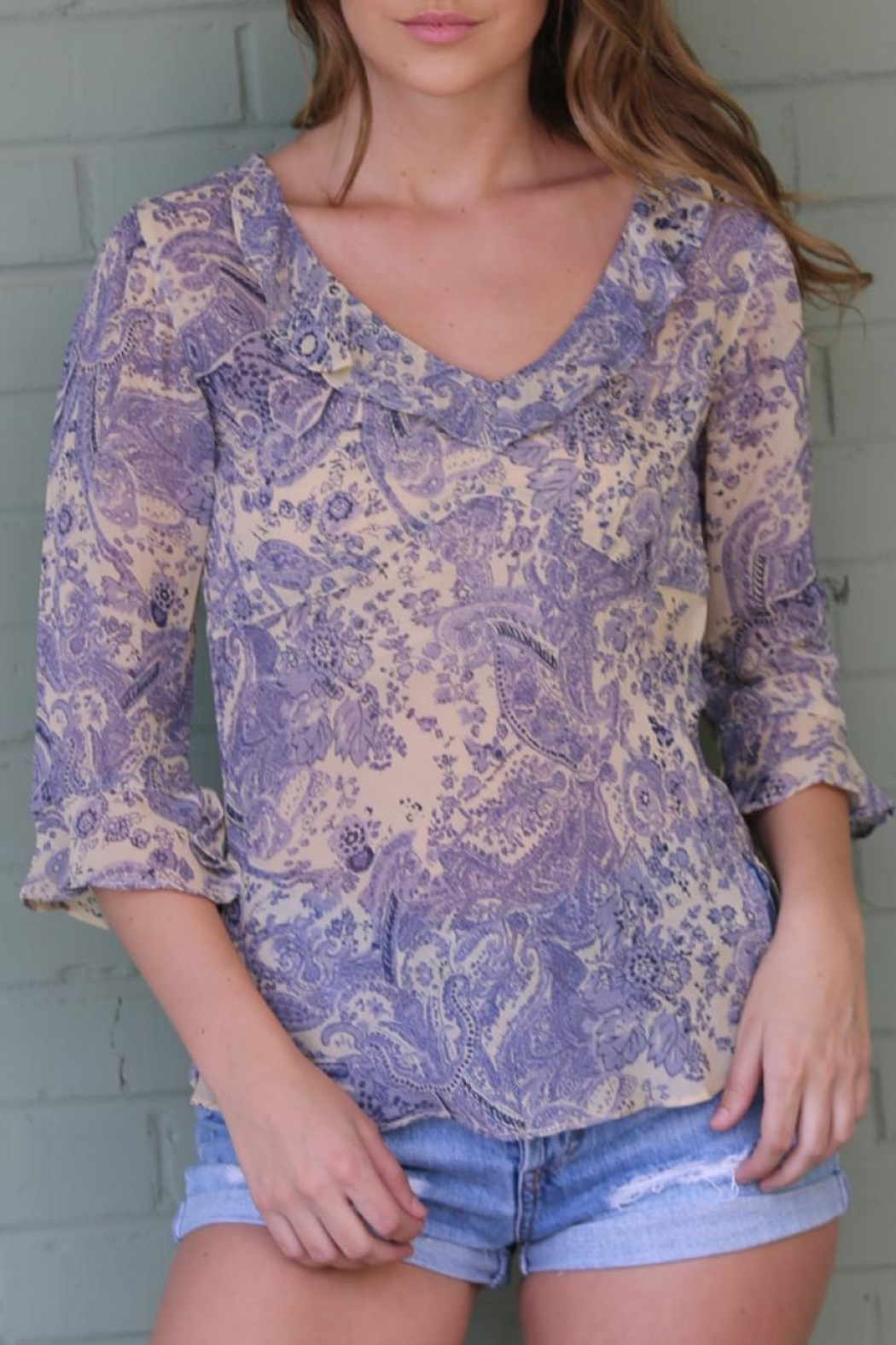 Angie Janet Lilac Top - Main Image