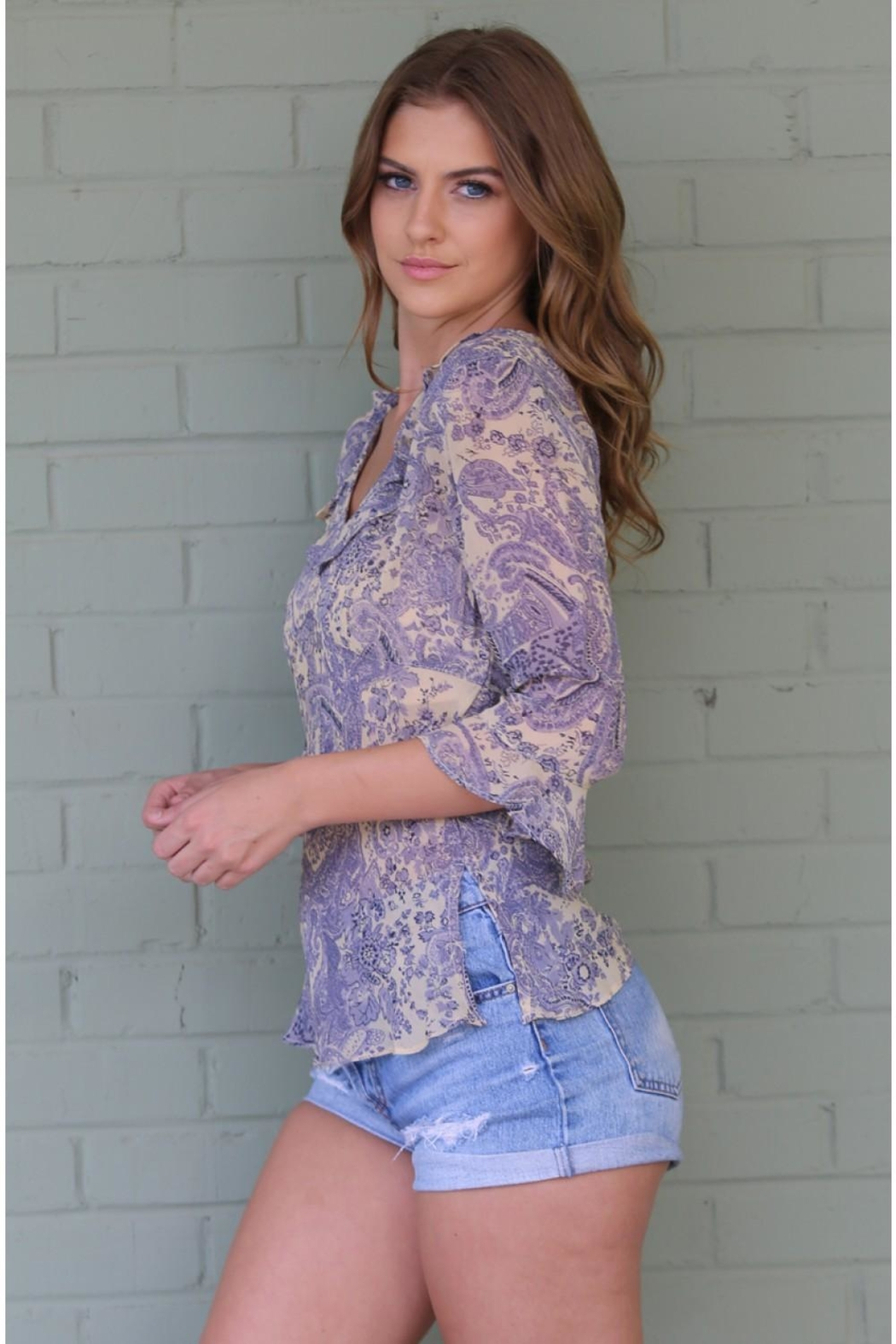 Angie Janet Lilac Top - Front Full Image